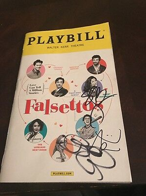 Falsettos Playbill Signed By Stephanie J Block, Betsy Wolfe & Anthony Rosenthal