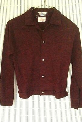 Vintage Boys Kaynee Acrylic  knitware Red Black Shirt Sweater Size 12