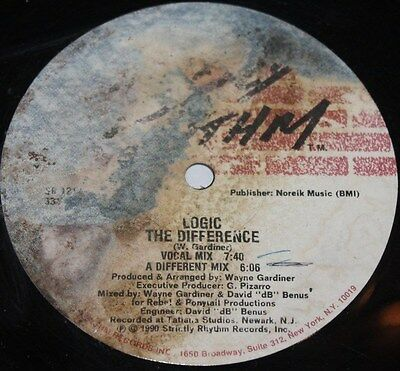 """LOGIC * THE DIFFERENCE * Classic Deep House 12"""" Vinyl"""