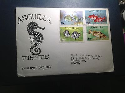 Anguilla 1969 Anguilla Fishes First Day Cover