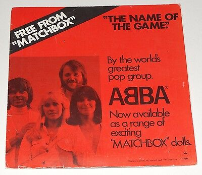 """ABBA Matchbox Promo Sleeve 7"""" Single The Name of the Game Record S EPC 5750"""