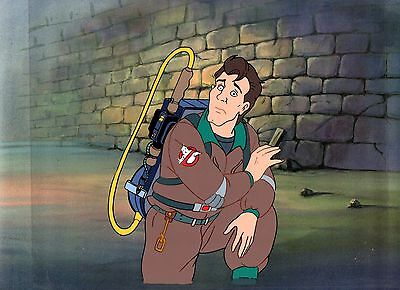 THE REAL GHOSTBUSTERS 1986 DiC ORIGINAL HAND PAINTED CEL & COPY BACKGROUND.