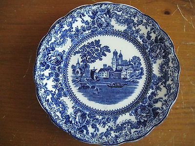 Antique Colonial Pottery Togo Flow Blue Plate 7 7/8""