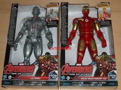 Marvel Iron Man + Ultron Titan Tech interactive electronic talking figures NEW