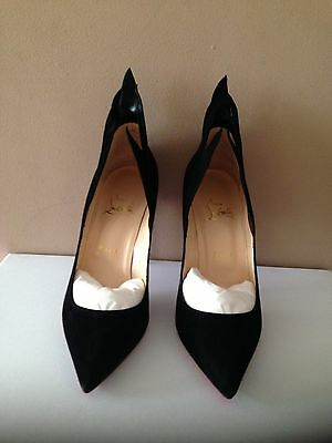 Christian Louboutin Ladies Black Suede Leather Shoes BNIB Size EU 39.5 Victorina
