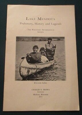 1933 Lake Mendota Madison WI Indians Prehistory & Legends Booklet Charles Brown