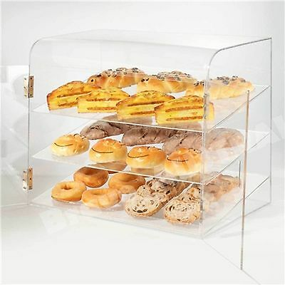 Large Display Cabinet for Cake Bakery Muffin Donut Pastry Acrylic w/ 2 Doors