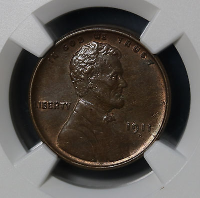 US 1911 S Lincoln Wheat Cent Penny NGC MS 61 BN Lustrous Rare Coin Stunning