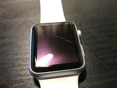 Apple Watch Sport 42mm Silver Aluminum White Sport Band with 2 straps included