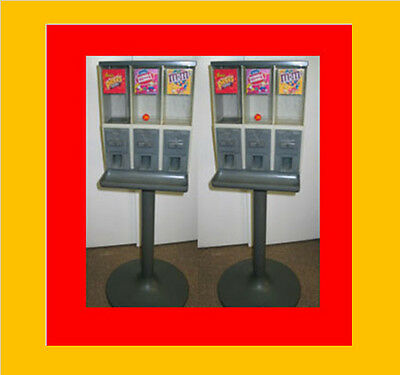 Two Vendstar Candy Vending Machines Gumball pair