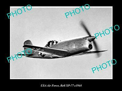 OLD HISTORIC AVIATION PHOTO USA AIR FORCE, BELL XP-77 AIRCRAFT c1944