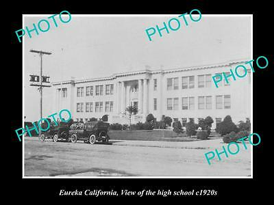 OLD LARGE HISTORIC PHOTO OF EUREKA CALIFORNIA, VIEW OF THE HIGH SCHOOL c1920