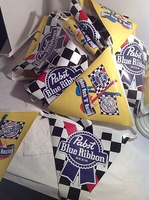 PBR PABST BLUE RIBBON Beer Banner Flags 22' Sign Bar John Boy Times 3 66' Total