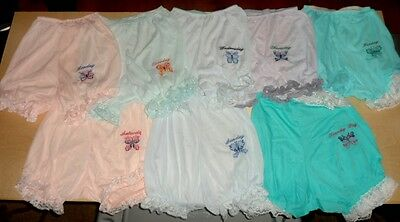 VTG ESTATE 8 Pair MISS ELAINE BUTTER SOFT NYLON DAYS OF THE WEEK PANTIES PANTY !