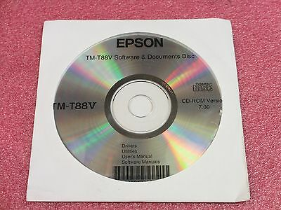 Epson TM-T88V Software & Documents Disk CD-ROM Version 7.00 free shipping