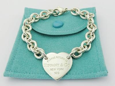 Authentic TIFFANY & CO Sterling Silver Return to Tiffany Heart Tag Bracelet