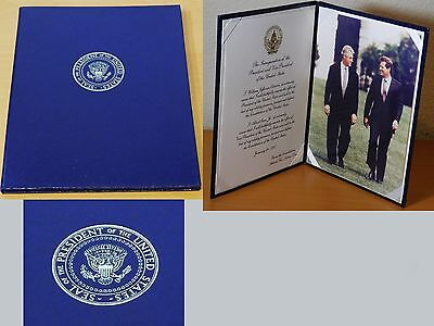 AUTHENTIC Bill Clinton Presidential Seal Oath of Office VIP Presentation Edition