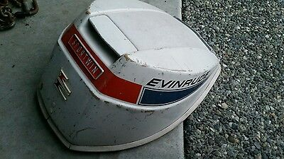 '68 Vintage Evinrude Sportwin 9.5 HP Outboard Cowl Hood Engine Cover