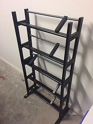 Black Wooden Freestanding DVD Stand With Adjustable Dividers