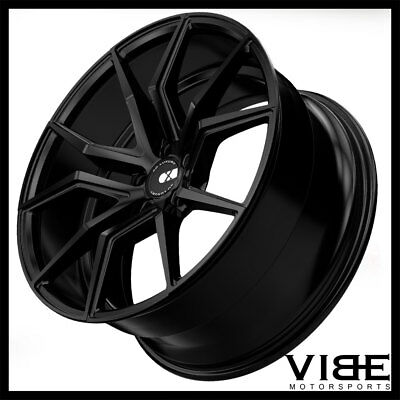 "19"" 20"" Xo Verona Black Concave Wheels Rims Fits Chevrolet C7 Z06 Z07 Corvette"