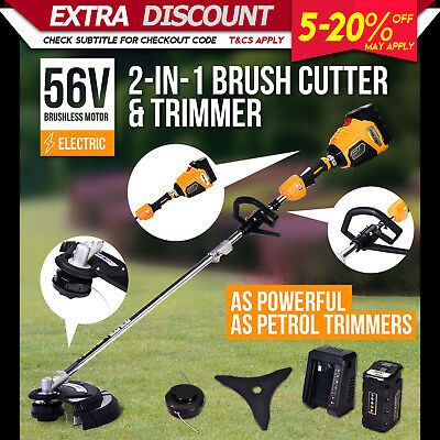 Matrix Brush Cutter Cordless Line Trimmer Electric Whipper Snipper Battery Kit