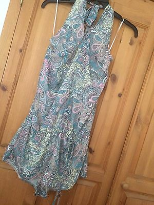 Next Play suit  Halter neck Size 12 Paisley Print Fully Lined New ��