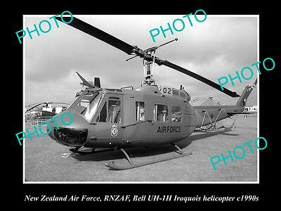 Historic Aviation Photo Of Rnzaf New Zealand Air Force, Iroquois Helicopter