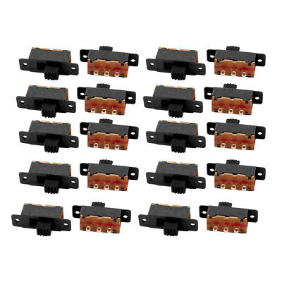 20Pcs 2 Position 3P SPDT Micro Laboratory Slide Switch Latching Toggle Switch