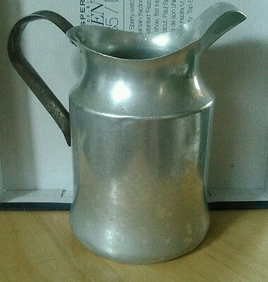VINTAGE WALKER WARE   Aluminum Water/Milk Pitcher @ 9 inches tall