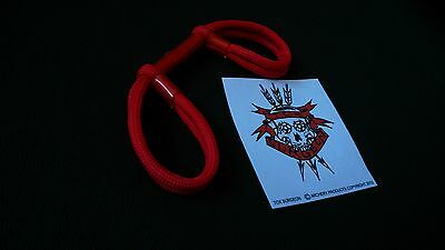 Tox Surgeon Archery Finger Sling  Bow Sling Red Double Loop