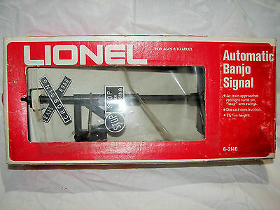 Lionel 6-2140 Automatic Banjo Signal  NOS BOX HAS WEAR