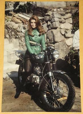 ANN MARGRET Triumph Bonneville Motorcycle Vintage Photo Movie Star Print 457