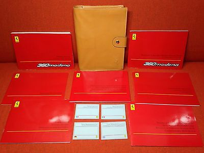 1999 FERRARI 360 MODENA OWNERS MANUAL GENUINE LEATHER CASE POUCH ((BUY OeM))
