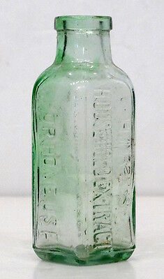 Antique CHARLES HIRES ROOT BEER Vintage GREEN GLASS EXTRACT Bottle PHILADELPHIA