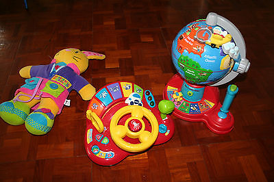 Vtech V-Tech Toys Fly and Learn Globe, Learn and Discover Driver, Dressing Buddy