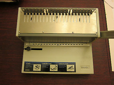 """Ibico Ibimatic 11"""" Plastic Comb Binding Punch and Coil Insertion Machine + Combs"""