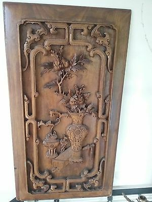 Chinese Wooden Carved Wall hanging