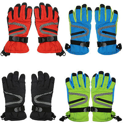 AU Womens Kids Sport Warm Thermal Waterproof Windproof Ski Snow Snowboard Gloves