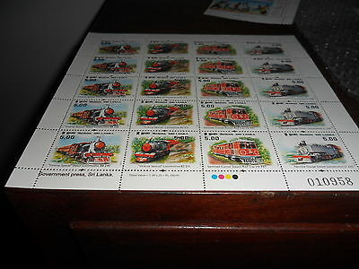 Srilanka Mint Stamps block Viceroy Special Train- 20 stamps Mint