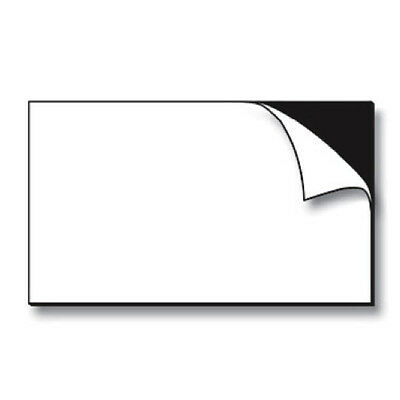 100 Self-Adhesive Peel+Stick Business Card Size Magnets Magnetic NEW