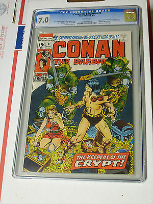 1971 MARVEL Comics CONAN the BARBARIAN #8 Comic Book CGC Graded 7.0 WHITE PAGES