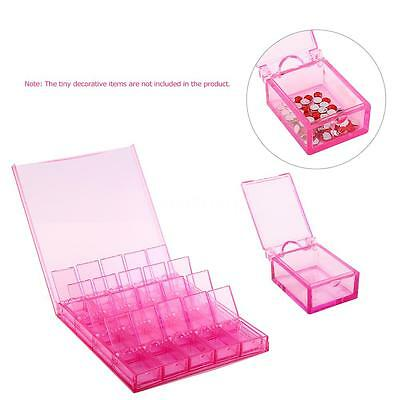 Hot Grids Storage Box Case Container Jewelry Makeup Nail Art Tips Organizer K6E6