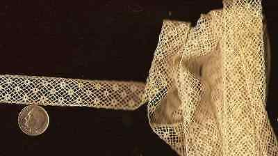 4 + Yards Antique Valenciennes Sewing Lace Inset Insertion Dainty Trim Cotton