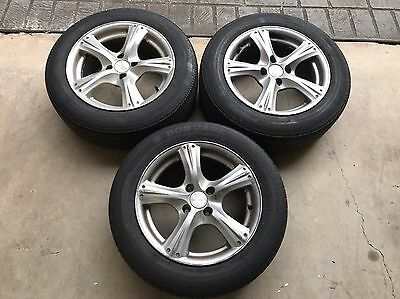 """4 Stud 15"""" wheels and tyres. 3 Of Only."""