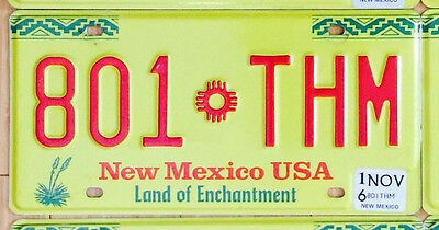 NEW MEXICO License Plate - Land of Enchantment - YELLOW - Pick Your Plate
