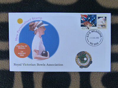 Royal Victorian Bowls Assoc. 2002 P/stamp First Day Cover