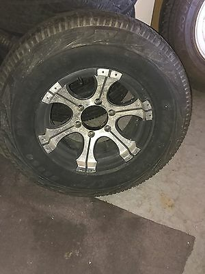 6 x Alloy Rims and Tyres - Hilux . landcruiser