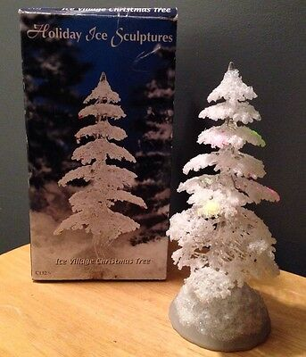 Heritage Mint ICE VILLAGE CHRISTMAS TREE LIGHTED C#132 FROSTY Acrylic In Box