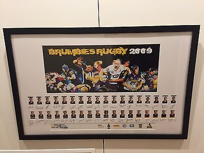 Brumbies team (2009) individually signed and framed