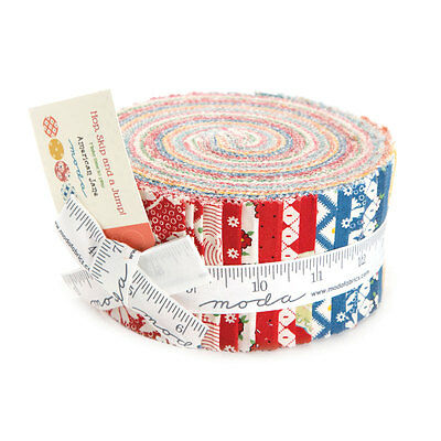 Quilting Fabric Jelly Roll - Moda - Hop, Skip And Jump